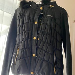 Bebe Puffer coat with removable hoodie